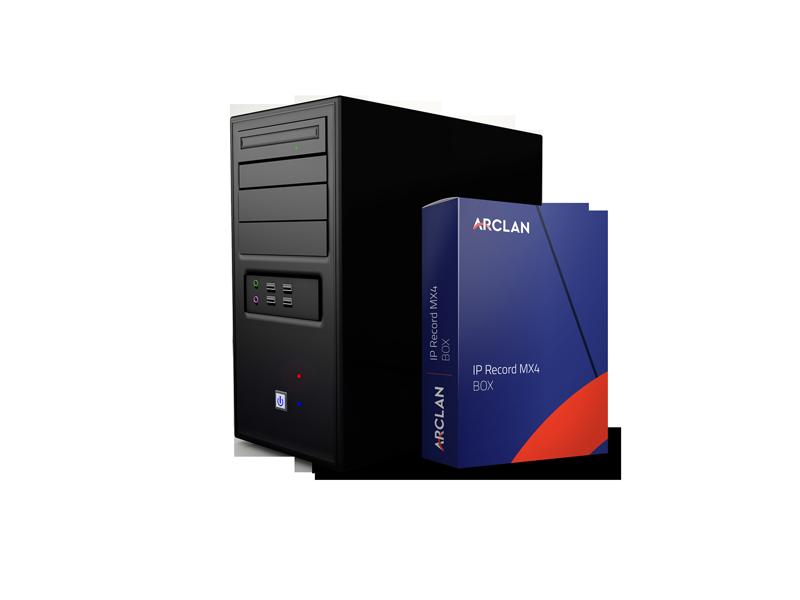 IPRECORD-MX4 BOX solution ARCLAN viédoprotection crentes commerciaux et franchisés